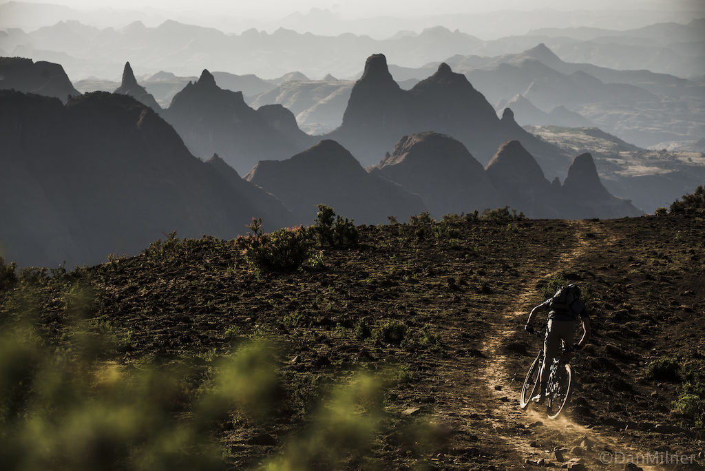 Dain Zaffke during an 8 day ride through the Simien National Park.