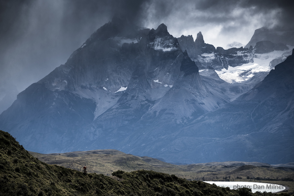 Rene Wildhaber riding in Torres del Paine