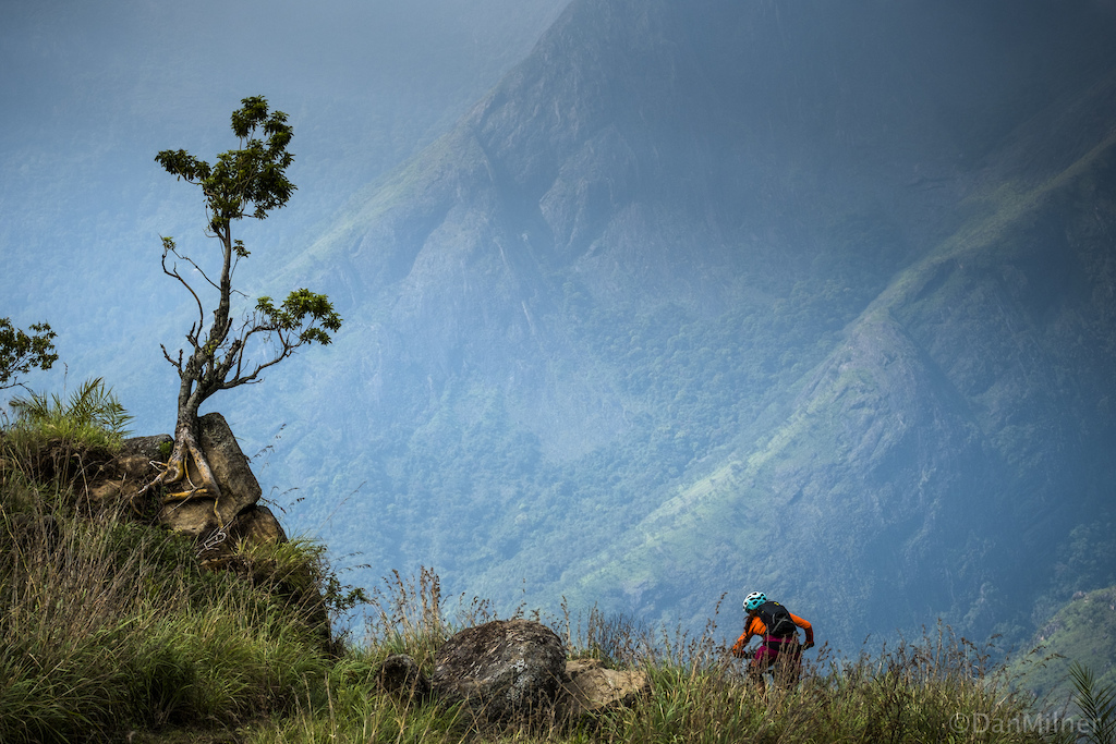 Descending a trail in the western Ghat mountains