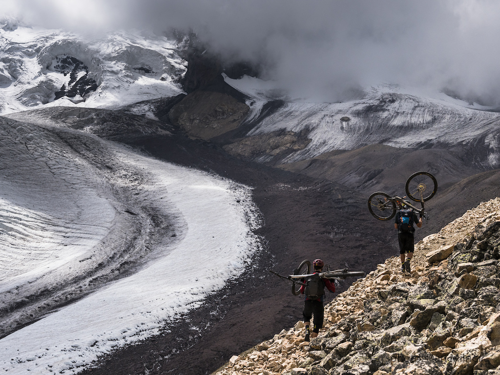 Fred and Dennis scale a pass on the west side of Mt Elbrus.