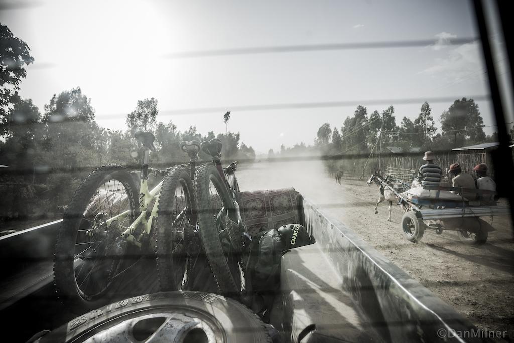 Shuttle ride in Ethiopia
