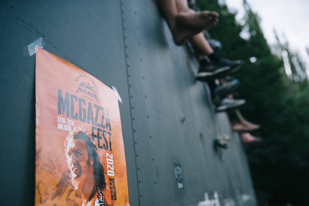 Celebrating Kelly McGarry at McGazza Fest 2020 in Queenstown, New Zealand