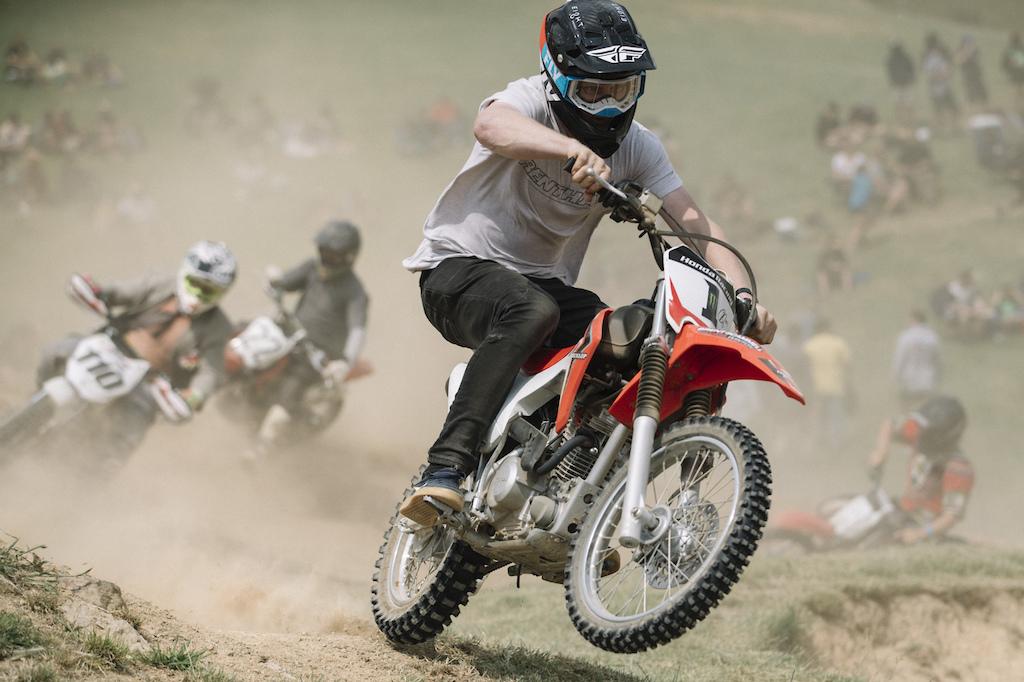 mini motocross at the Frew's Farm Jam 2020,  Otapiri Gorge, New Zealand