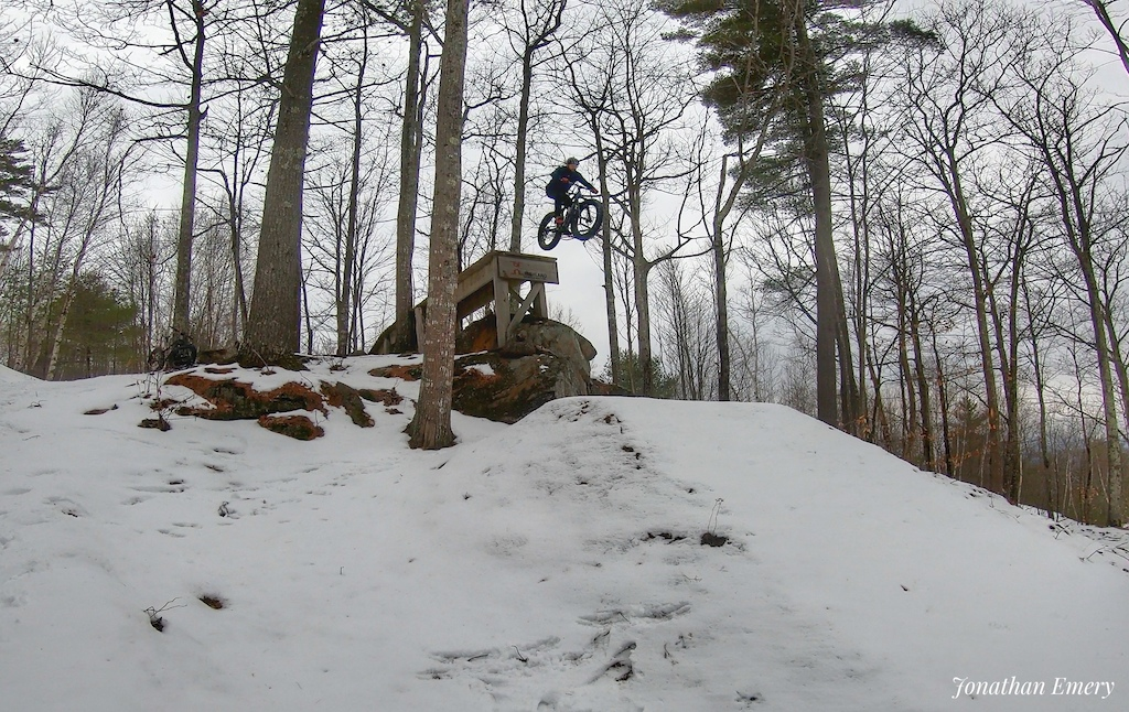 First time sending Tombstone may as well do it on a fatbike in the winter