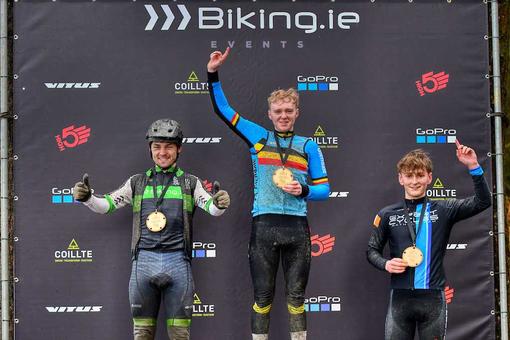 SuperPro podium with Lee Harvey Garreth Davis and Harry Byrne