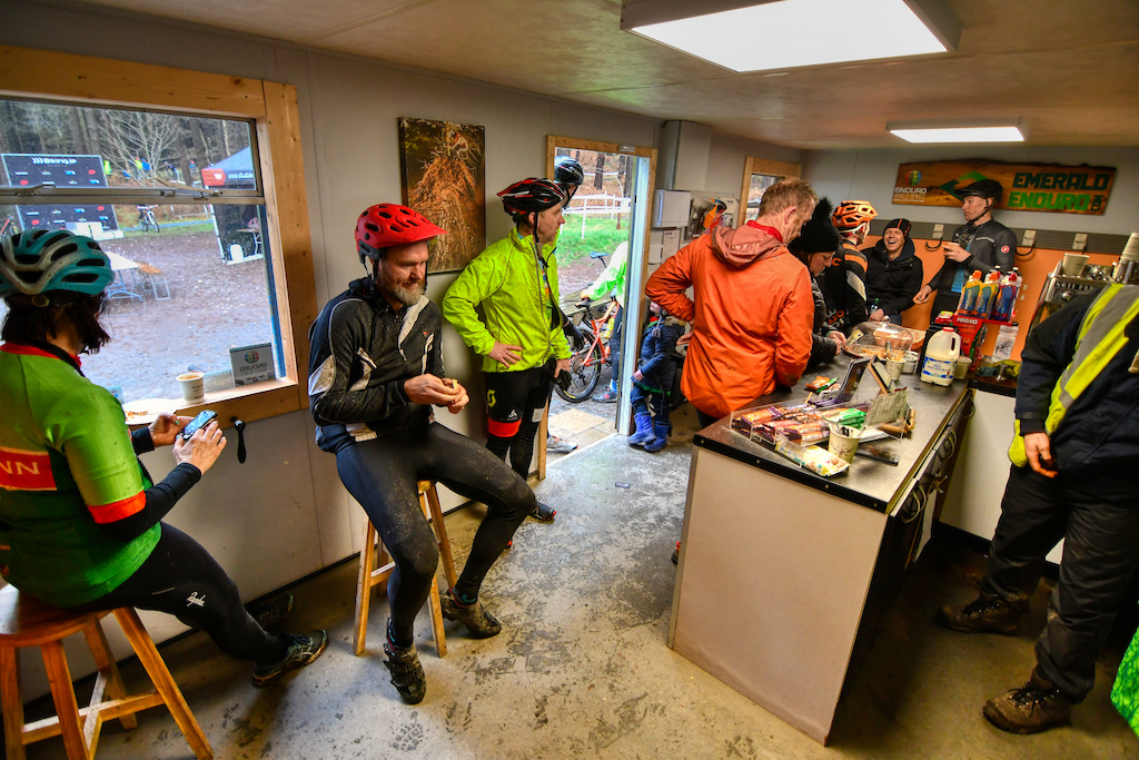 Most trail centers managed by Biking.ie have a small hut or cabin where to enjoy a coffee hide for the rain and have a chat