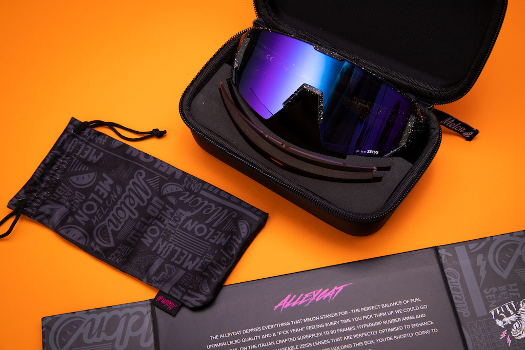 Melon Alleycats in premium hard case with micro fibre bag and box