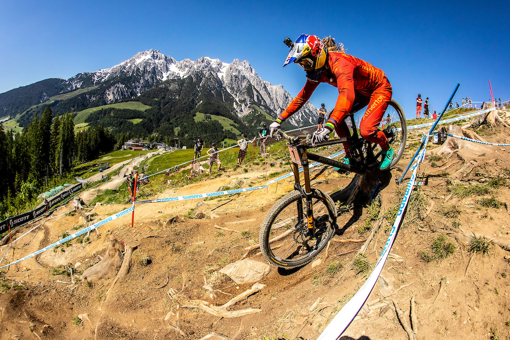 During Leogang World Cup DH Round 3