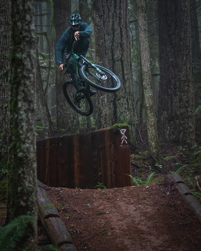 A typical wet winters ride on one of Robert Creeks sort after trails.