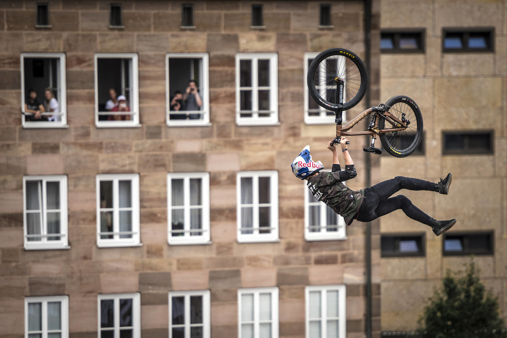 Emil Johansson of the Sweden performs during the finals of the Red Bull District Ride 2017 in Nuremberg Germany on September 2nd 2017 Sebastian Marko Red Bull Content Pool AP-1T3XUXZ9W2111 Usage for editorial use only