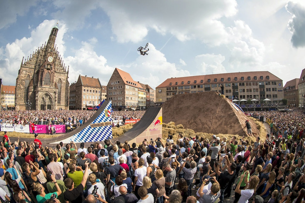 Lois Reboul of France performs during the finals of the Red Bull District Ride 2014 in Nuernberg Germany on Saturday September 6th 2014 Markus Greber Red Bull Content Pool 1410041059125-2004632182 Usage for editorial use only