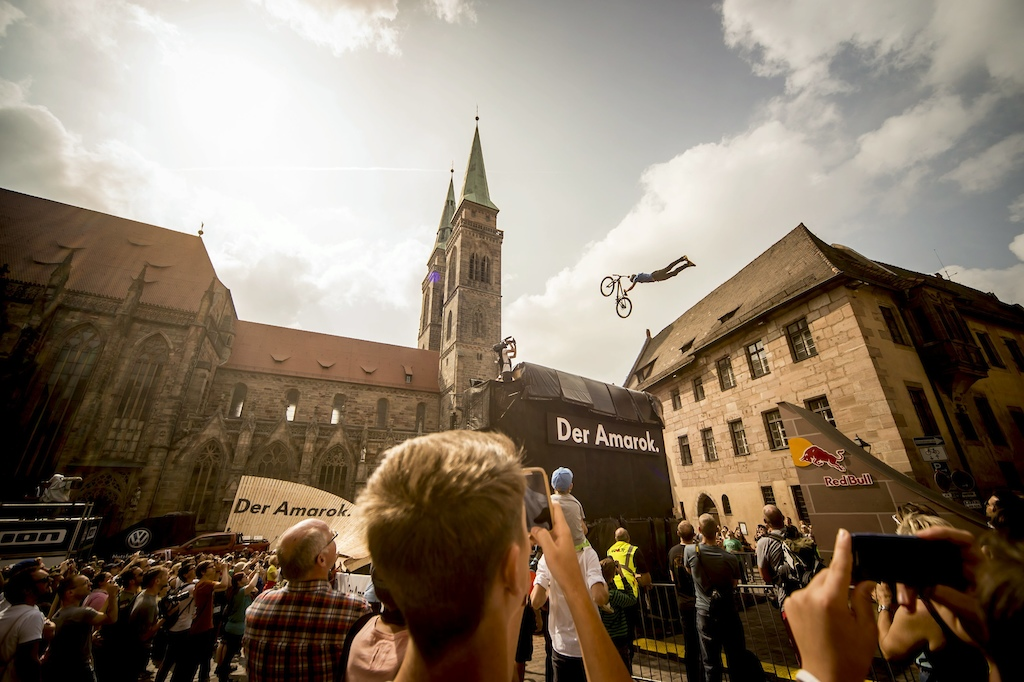 Sam Reynolds GBR performs during the Red Bull District Ride Finals in Nuremberg Germany on September 06th 2014 Christoph Laue Red Bull Content Pool 1410041572139-879744387 Usage for editorial use only