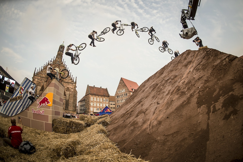 Lukas Knopf GER performs during the Telekom Best Trick Contest at the Red Bull District Ride in Nuremberg Germany on Sep 05th 2014 Christoph Laue Red Bull Content Pool 1410041573309-1694853123 Usage for editorial use only