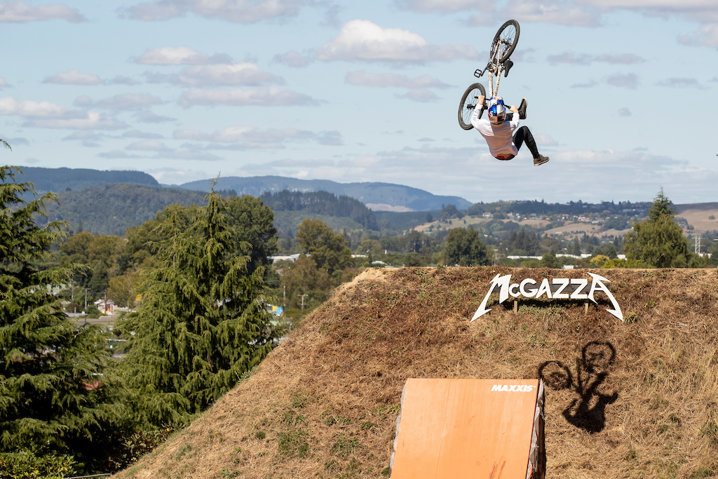 Emil Johansson performs during Slopestyle training at Crankworx in Rotorua New Zealand on March 21 2019 Graeme Murray Red Bull Content Pool