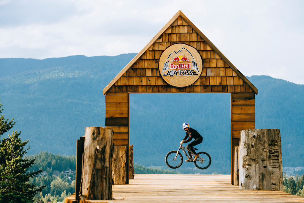 Emil Johansson practices at Red Bull Joyride in Whistler British Columbia Canada on 17 August 2019. Paris Gore Red Bull Content Pool