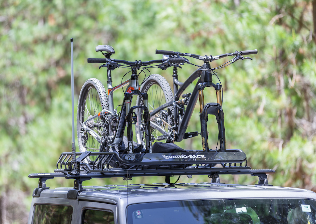 Rhino-Rack X-Tray Pro mounted with 2 mountain bikes