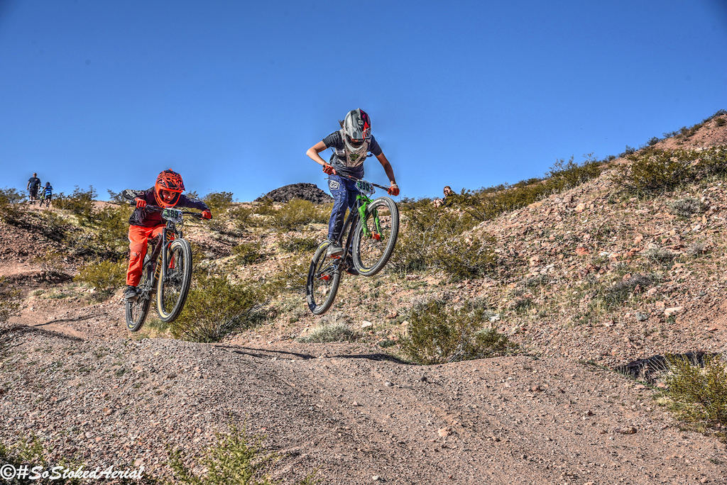 Photo by Jerry Walton of sostokedarial at the 2020 DVO Mob n Mojave Enduro presented by GT Bicycles and ODI Grips.