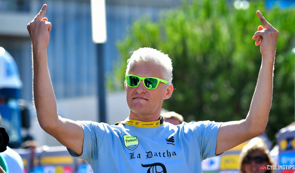 Montpellier - France - wielrennen - cycling - radsport - cyclisme - Oleg Tinkov pictured during stage 11 of the 2016 Tour de France from Carcassonne to Montpellier 164.00 km - photo NV PN Cor Vos 2016