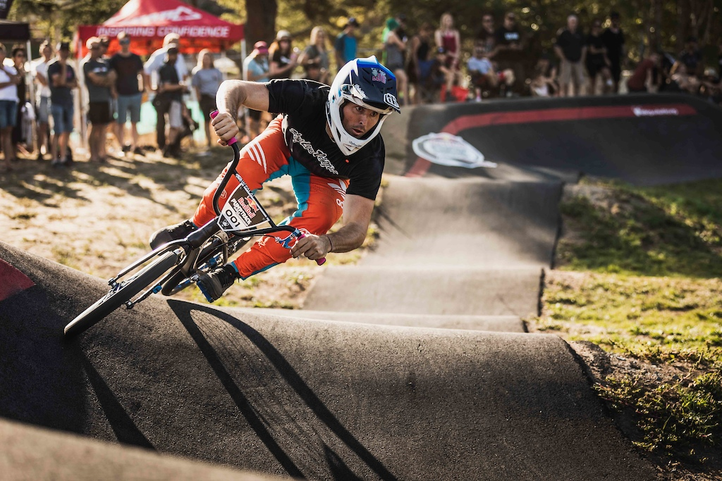 Michael Bias participates at the Red Bull Pump Track World Championships in Cambridge New Zealand.