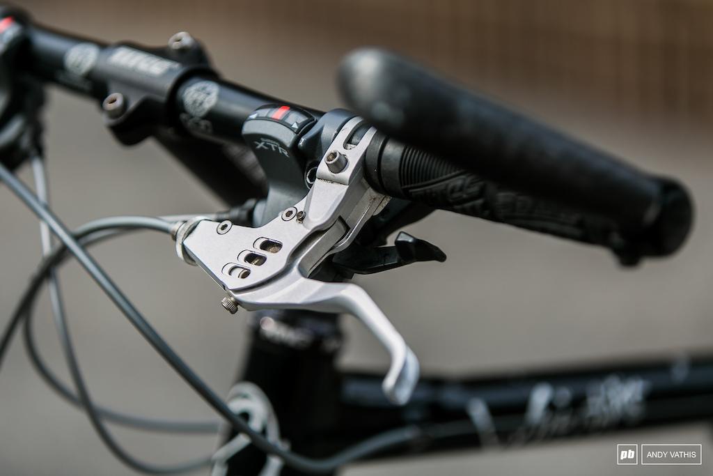 Beautifully machined brake levers.