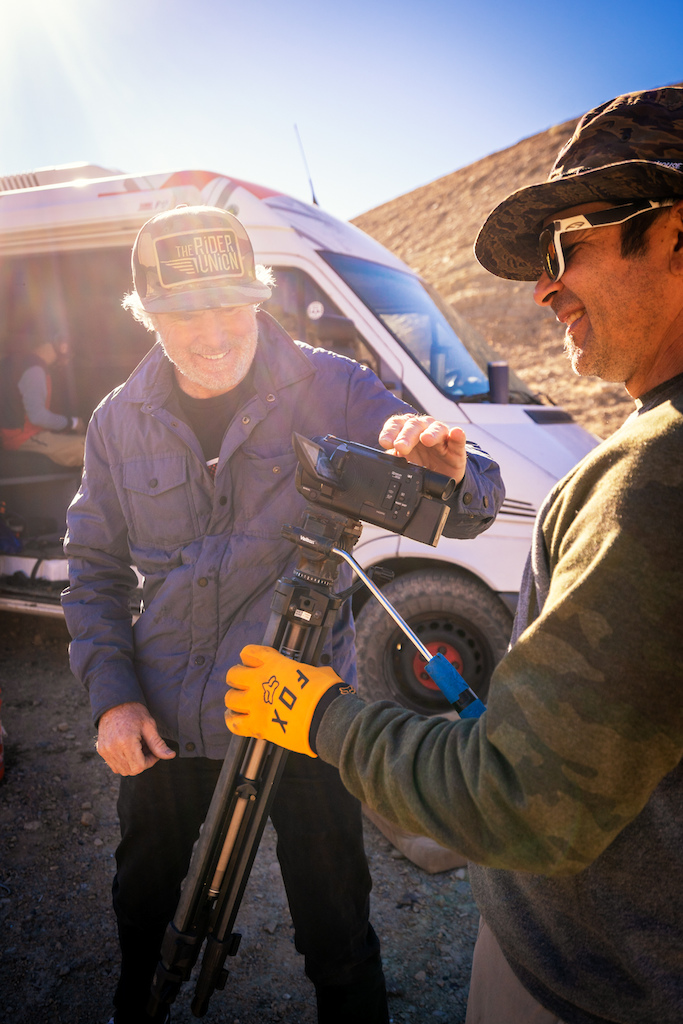 Matt Collins and Danny Silva getting ready to film Kirt.
