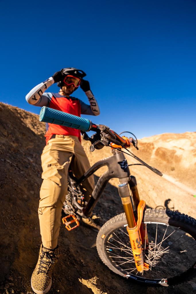 Kirt Voreis mountain biking in California