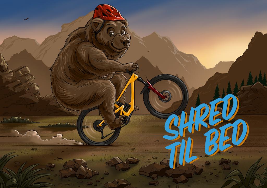 Shred Til Bed Bear