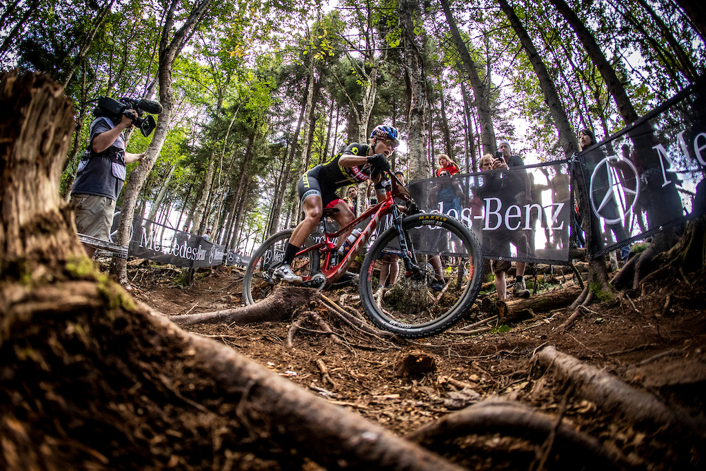 During the 2019 UCI MTB World Cup finals Snowshoe West Virginia USA.