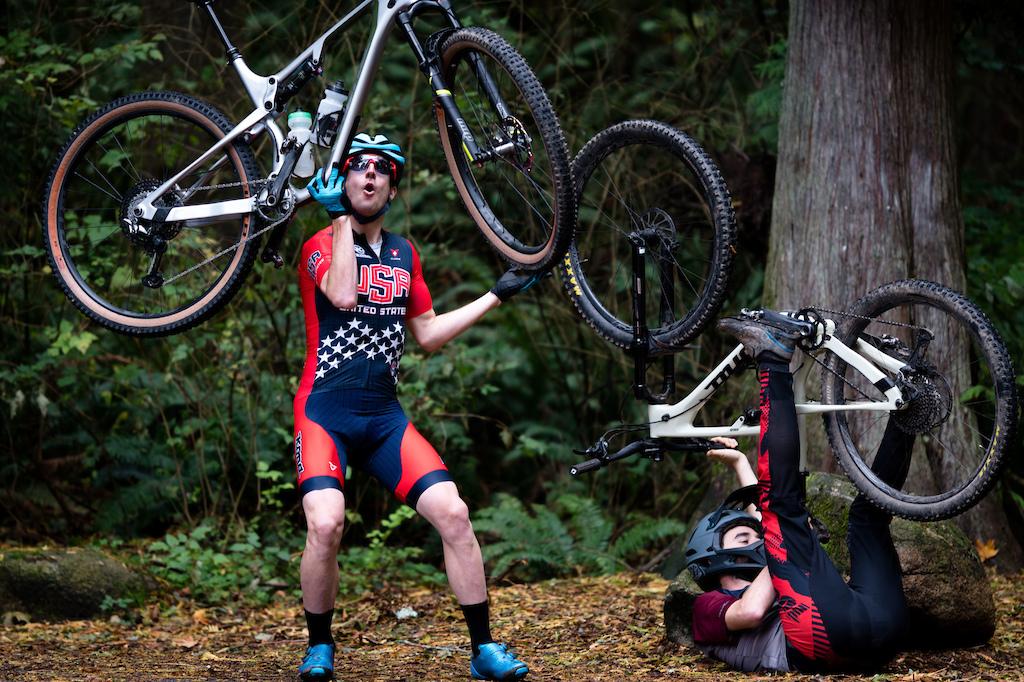 Spencer Paxson and Donny Allison ride the 2020 Kona Hei Hei CR