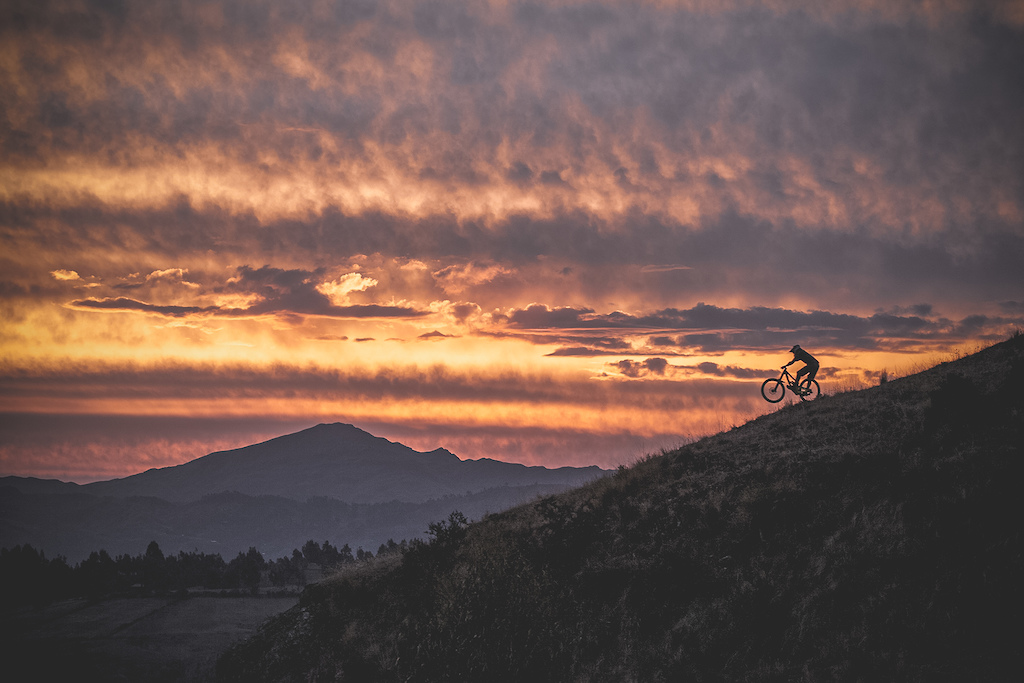 Close to Cusco City finishing the riding day being inspired by the afternoon sky. Nicolas Prudencio