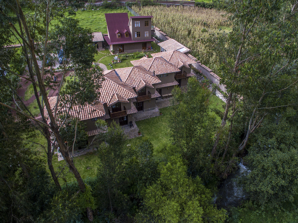 The Lodge from the air Photo by delriosudiego