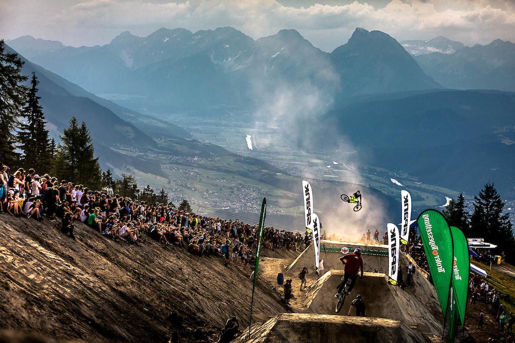 Whip off at Crankworx Innsbruck with Brendan Fairclough.