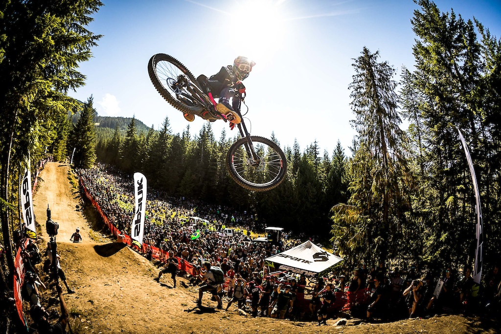 Finn Iles at the Crankworx Whip-Off World Championships in Whistler Canada.