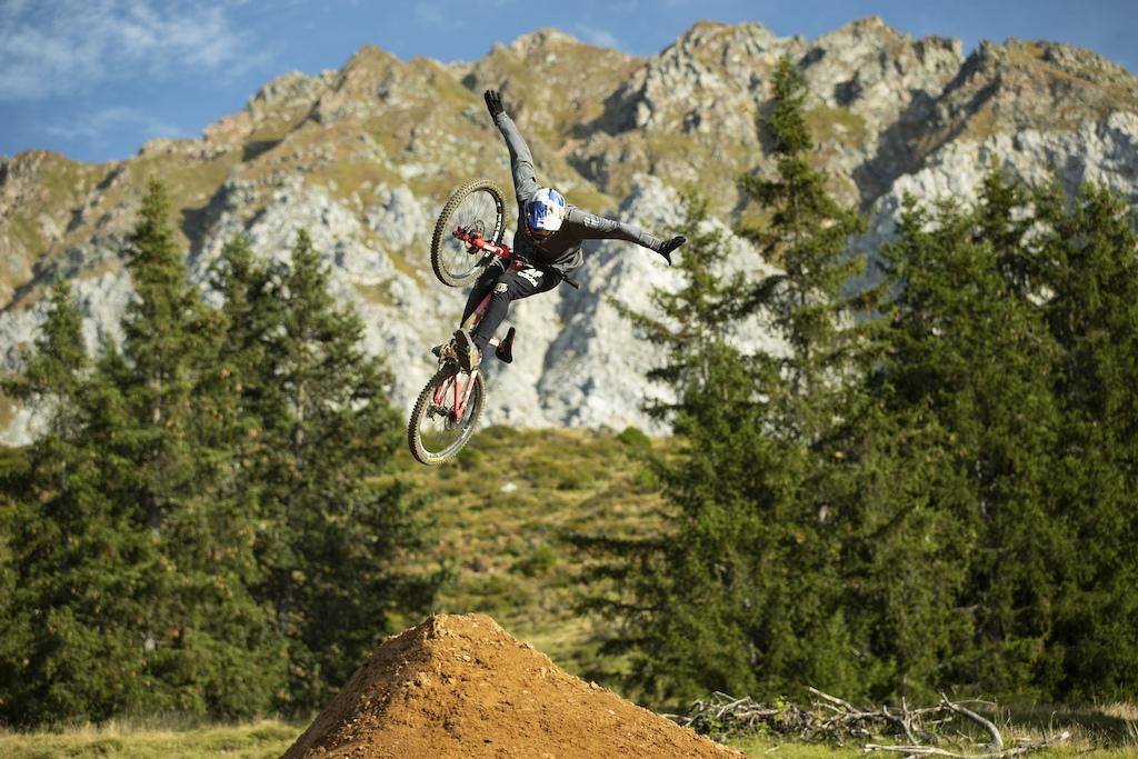 Thomas Genon with Anthill Films in the Lenzerheide Bike Kingdom Switzerland Copyright Bike Kingdom Lenzerheide Sterling Lorence