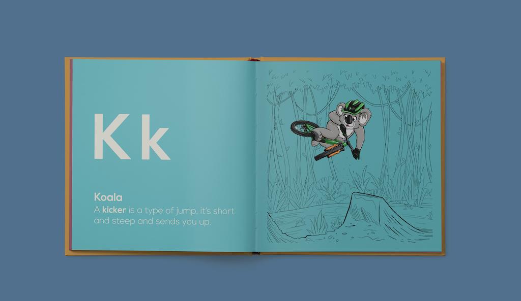 Shred Til Bed Kids MTB Book Koala