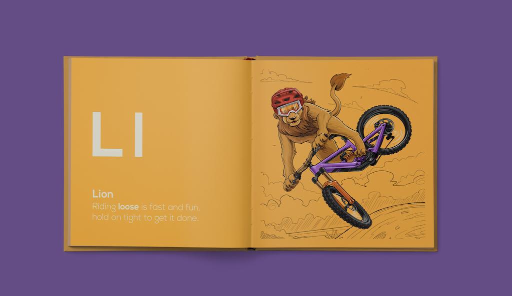 Shred Til Bed Kids MTB Book Lion
