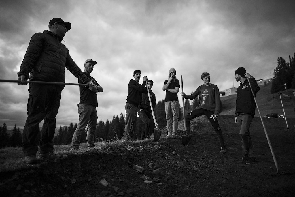 Thomas Genon with Anthill Films in the Lenzerheide Bike Kingdom, Switzerland