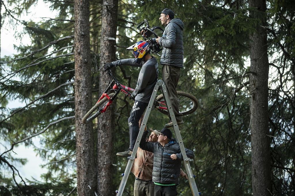 Thomas Genon with Anthill Films in the Lenzerheide Bike Kingdom, Switzerland