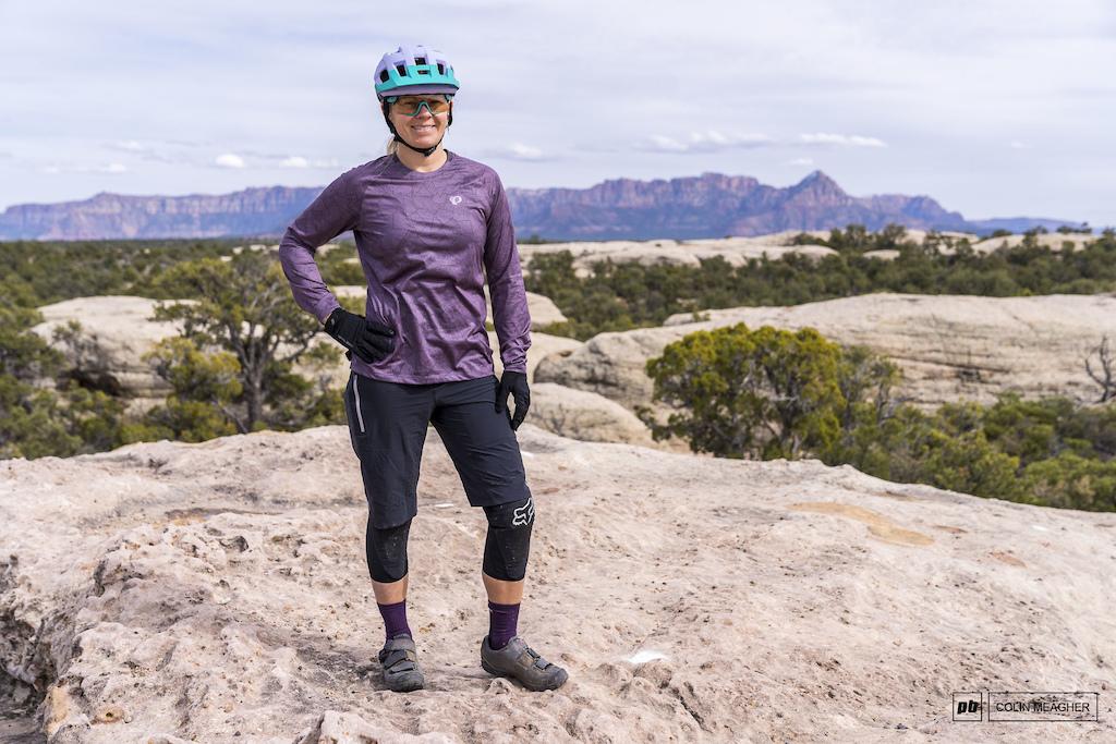 Nikki Rohan focusing on her Social Isolation on Gooseberry Mesa near Hurricane UT