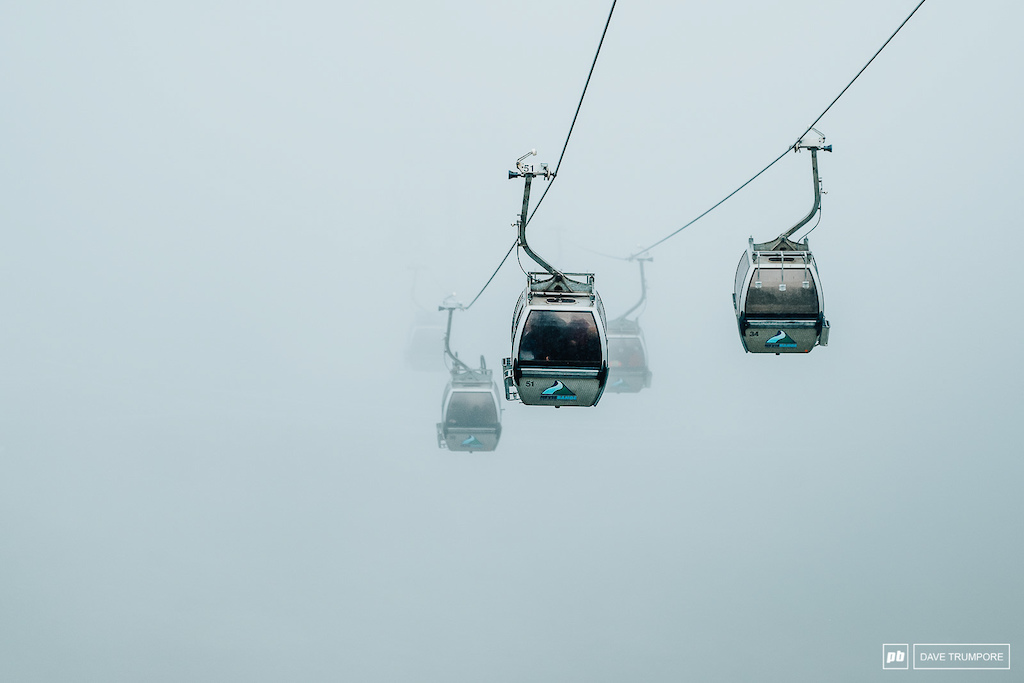 I wonder what the track conditions are like? Because you sure can't see them from the gondola