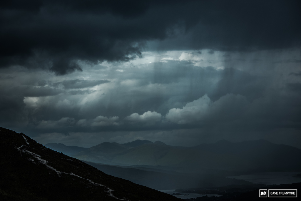 You can see the weather rolling in from miles away. Quite often it's not a pretty sight