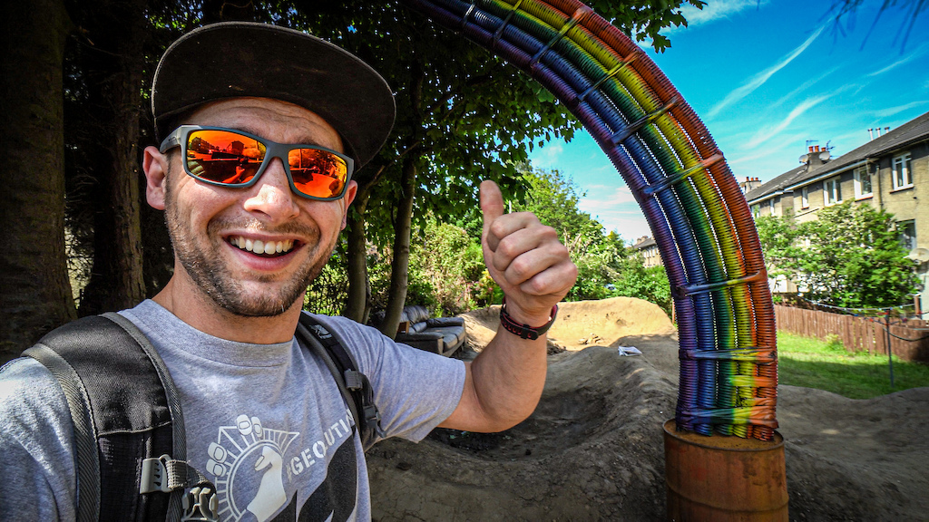 The mighty RAINBOW at the Backyard Pumptrack