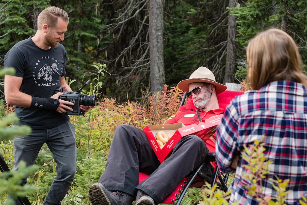 Matt Brooks from Lone Wolf Productions working hard.