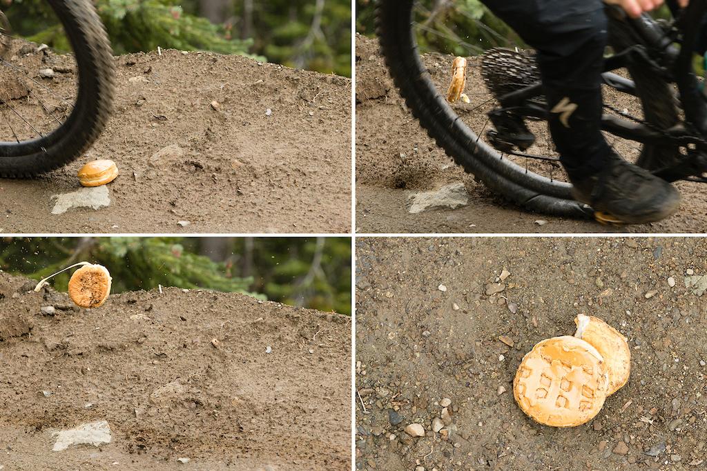 Bike vs Donut on Canada Line