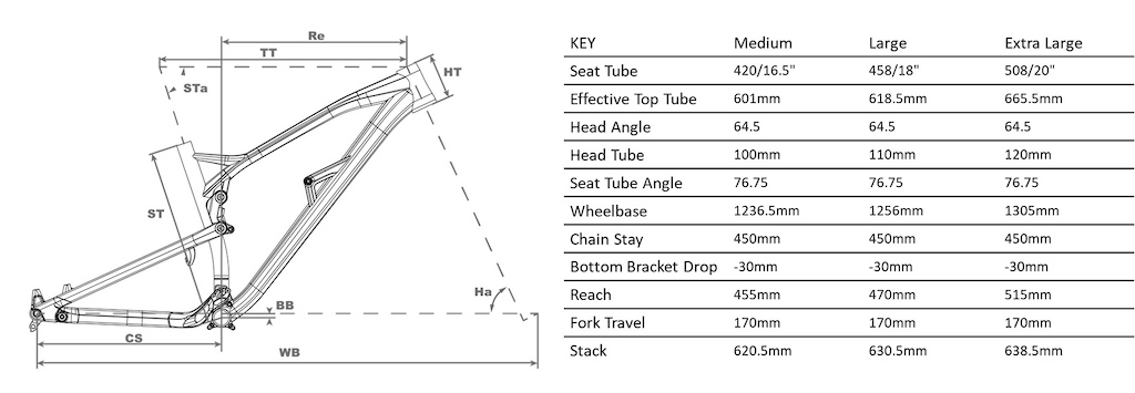 Nukeproof Mega 290 Factory Geometry