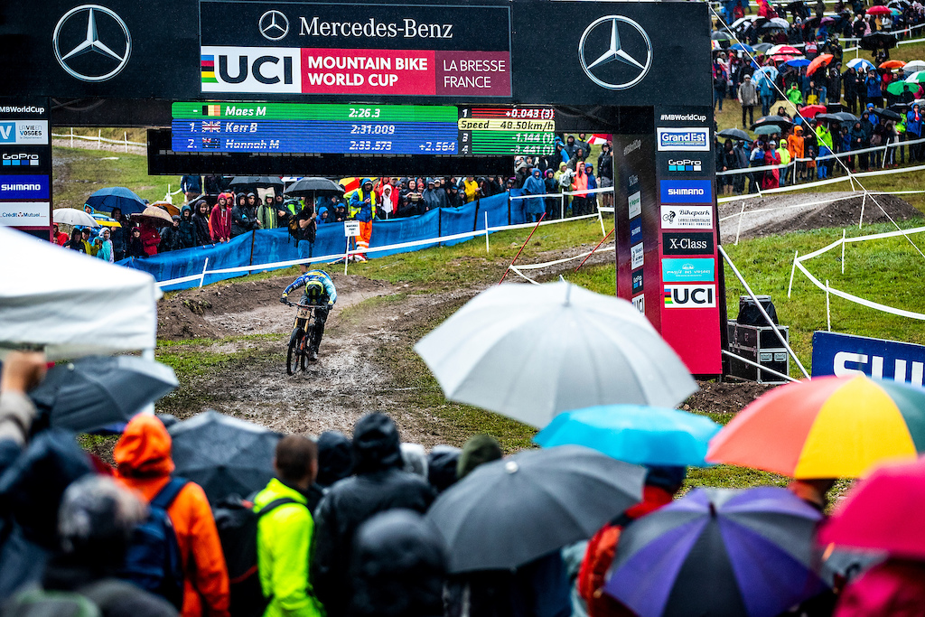 during the 2018 Labresse UCI MTB World Cup finals.