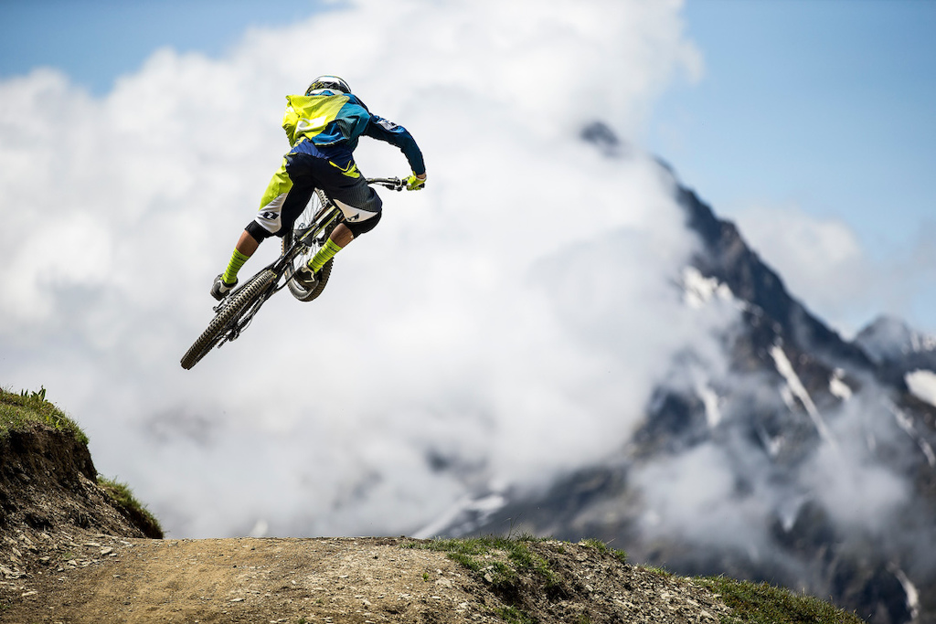 at the third round of the Enduro World Series Les 2 Alps France