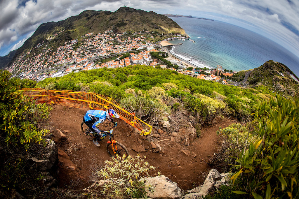 During the 3rd round of the 2019 Enduro World Series Machico Madeira.