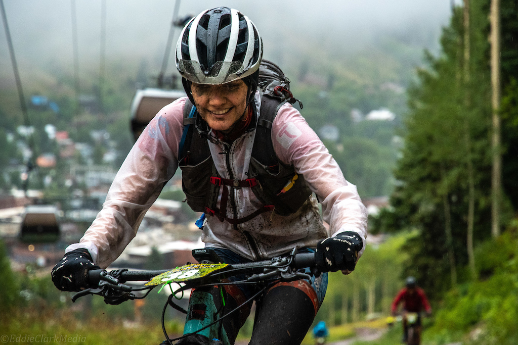 Alexis Skarda traded the lead with Erin Huck during the first lap and would go on to finish second on the day.