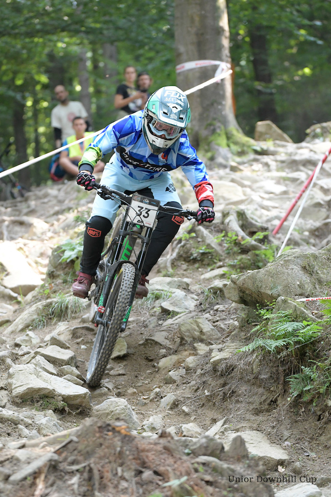 Ale Virti Bikestore.cc on his way to National Championships silver medal.